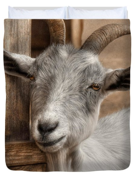 Billy Goat Duvet Cover by Lori Deiter