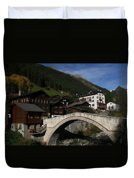 Duvet Cover featuring the photograph Binn by Travel Pics