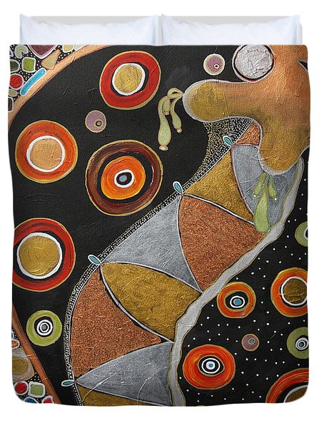 Biological Rhythms.. Duvet Cover by Jolanta Anna Karolska