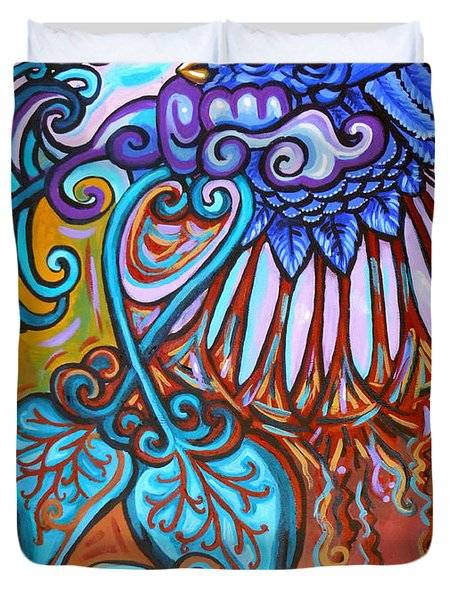 Bird Heart Iv Duvet Cover by Genevieve Esson