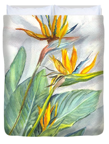 Bird Of Paradise Duvet Cover by Carol Wisniewski