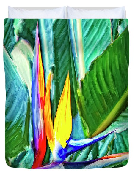 Bird Of Paradise Duvet Cover by Dominic Piperata
