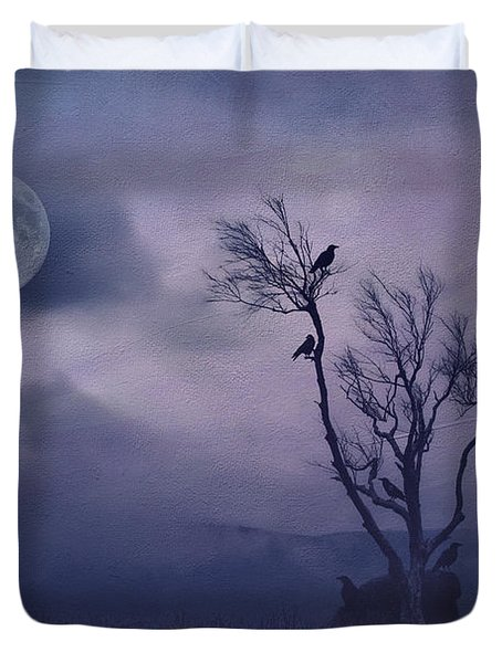Birds in the Night Duvet Cover by Darren Fisher