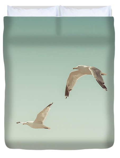 Birds Of A Feather Duvet Cover by Lucid Mood