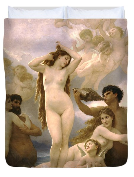 Birth Of Venus Duvet Cover by William Bouguereau