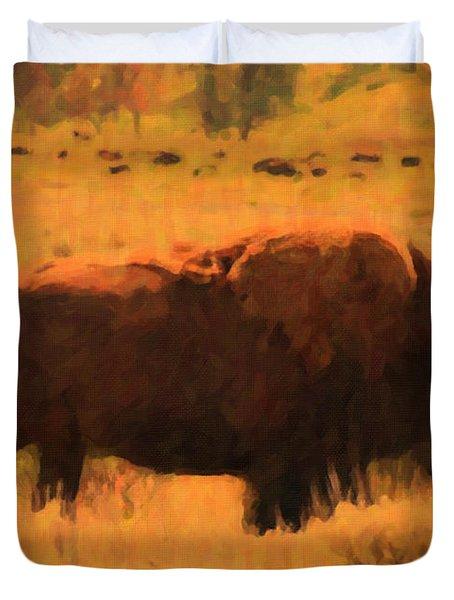 Bison Duvet Cover by Jo-Anne Gazo-McKim