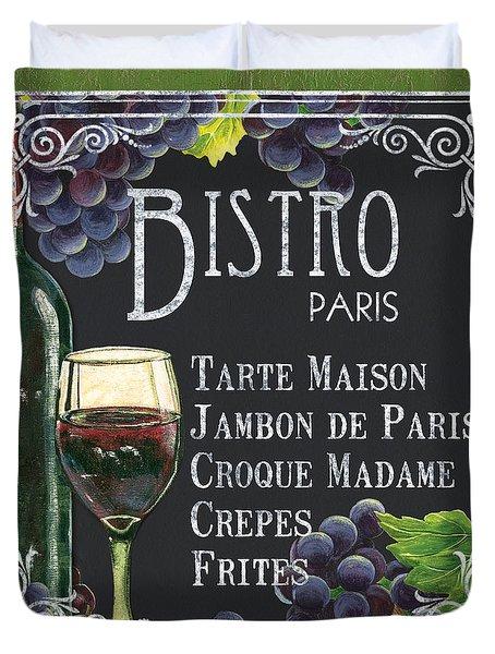 Bistro Paris Duvet Cover by Debbie DeWitt