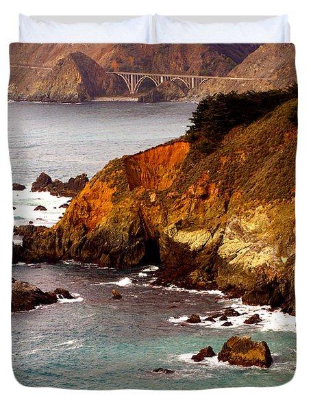 Bixby Bridge of Big Sur California Duvet Cover by Barbara Snyder