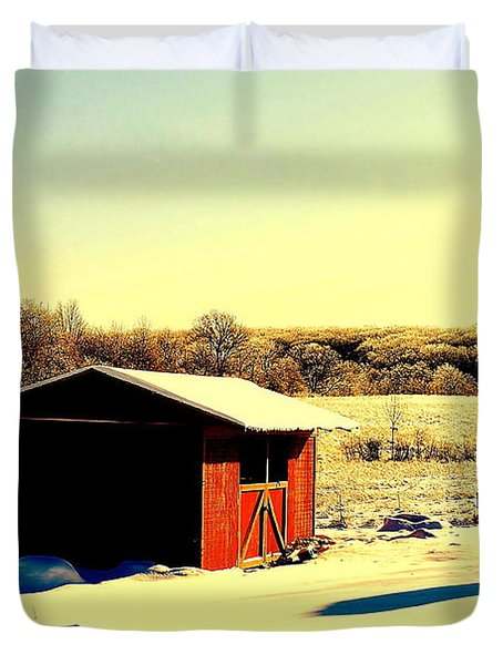 Black and Color Duvet Cover by Frozen in Time Fine Art Photography