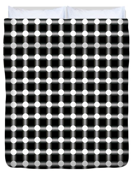BLACK and WHITE DOTS Duvet Cover by Daniel Hagerman