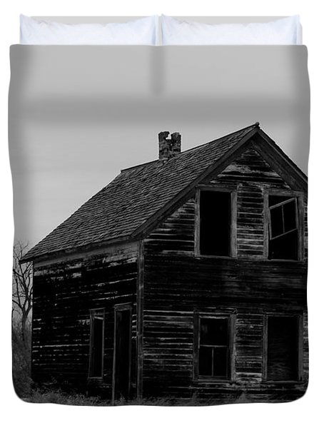 Black And White Forlorned Duvet Cover by Jeff Swan
