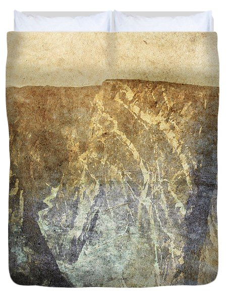 Black Canyon Duvet Cover by Brett Pfister