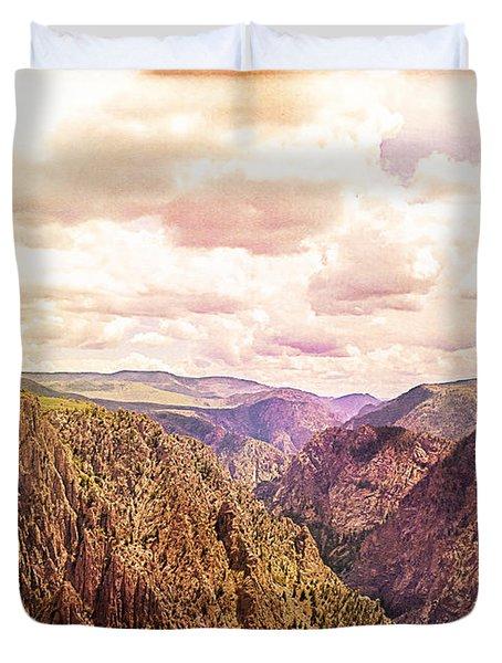 Black Canyon Colorado Duvet Cover by Janice Rae Pariza