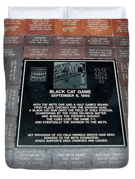 BLACK CAT GAME Duvet Cover by ROB HANS