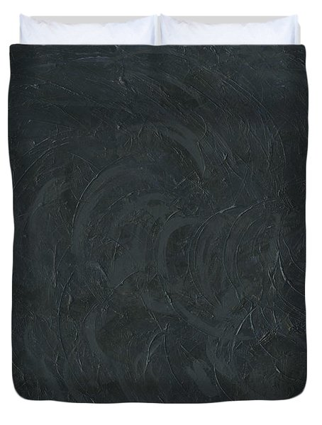 Black Color Of Energy Duvet Cover by Ania M Milo