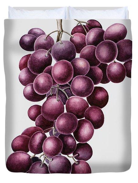Black Grapes Duvet Cover by Sally Crosthwaite