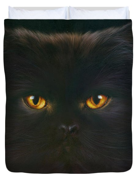 Black Persian Duvet Cover by Andrew Farley