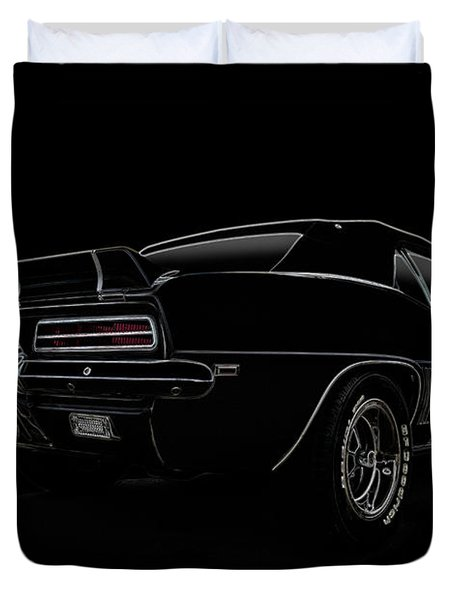 Black Ss Line Art Duvet Cover by Douglas Pittman