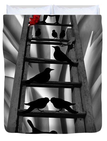 Blackbird Ladder Duvet Cover by Barbara St Jean