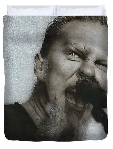 'Blackened' Duvet Cover by Christian Chapman Art