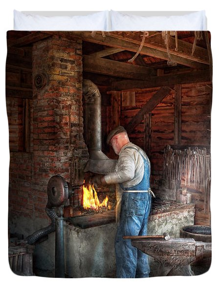 Blacksmith - The importance of the Blacksmith Duvet Cover by Mike Savad