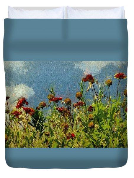 Blanketing The Sky Duvet Cover by Jeff Kolker