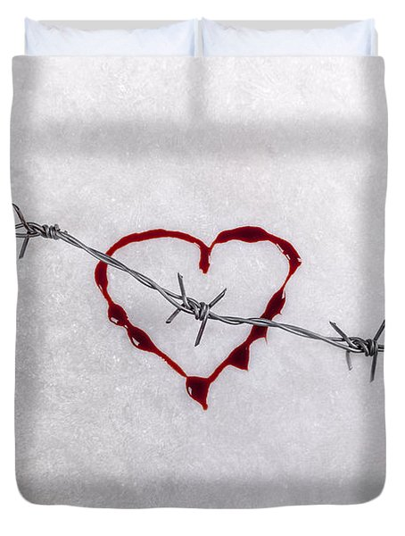 Bleeding Love Duvet Cover by Joana Kruse