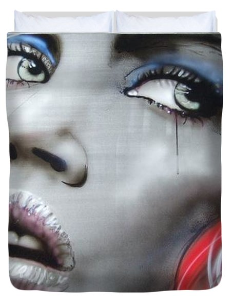 'bleeding Rose' Duvet Cover by Christian Chapman Art