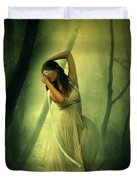 Blindfolded Duvet Cover by Ester  Rogers