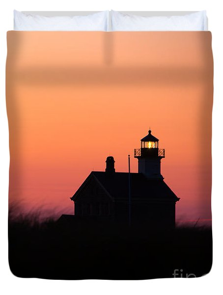 Block Island North Lighthouse Duvet Cover by Diane Diederich