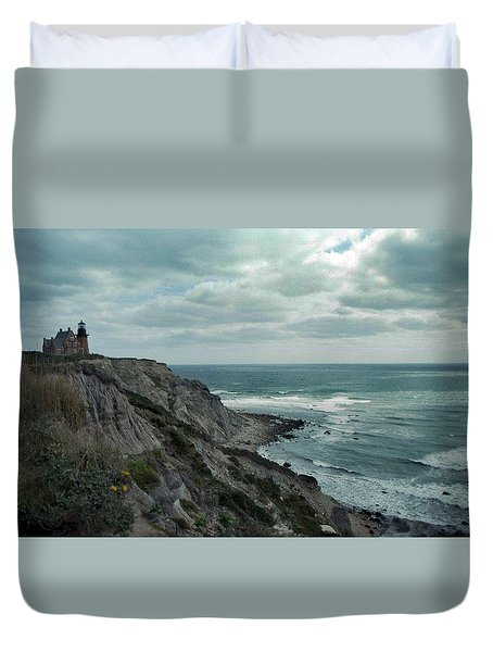 Block Island South East Lighthouse Duvet Cover by Skip Willits