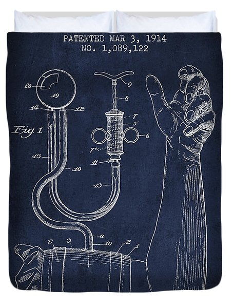 Blood Pressure Cuff Patent From 1914 Duvet Cover by Aged Pixel