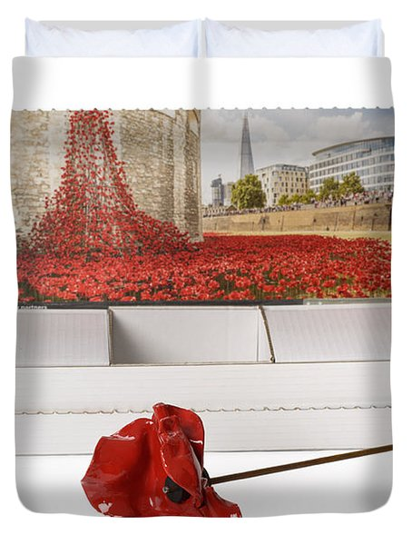 Blood Swept Lands And Seas Of Red Duvet Cover by Amanda Elwell