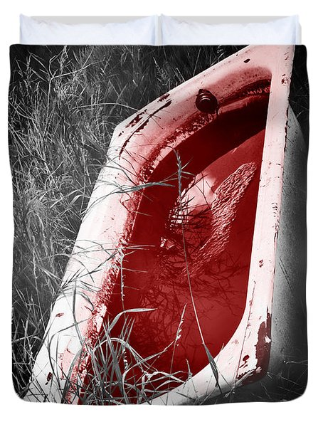 Bloody Bathtub Duvet Cover by Wim Lanclus