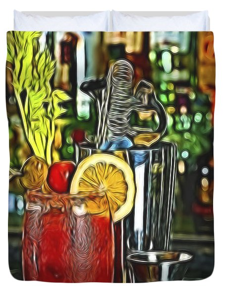Bloody Mary Duvet Cover by Wayne Kondoff