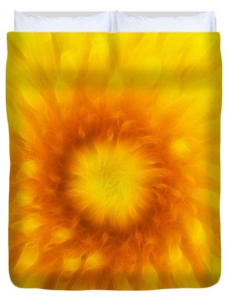 Bloom Of Dandelion Duvet Cover by Michal Boubin