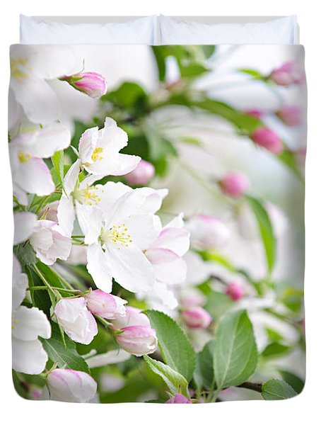 Blooming apple tree Duvet Cover by Elena Elisseeva
