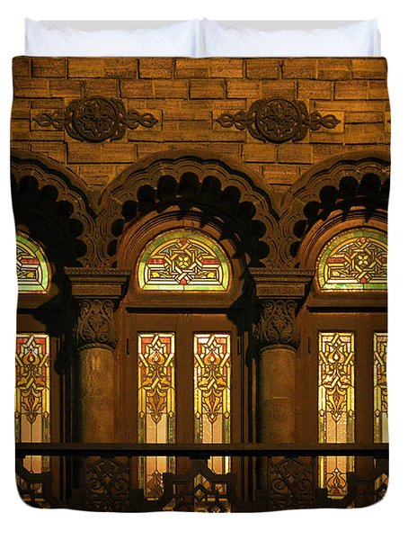 Bloomingdale's At Home In Chicago's Medinah Temple Duvet Cover by Christine Till