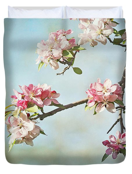 Blossom Branch Duvet Cover by Kim Hojnacki