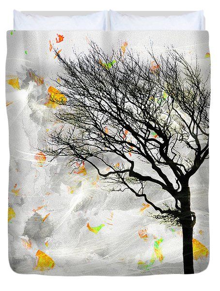 Blowing It The Wind Duvet Cover by Edmund Nagele
