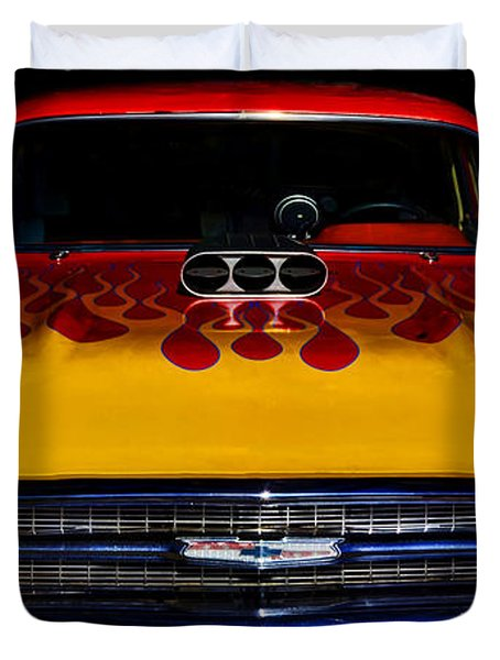 Blown 57 Chevy Duvet Cover by Ken Smith