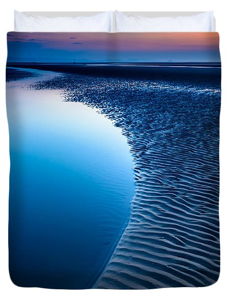 Blue Beach  Duvet Cover by Adrian Evans