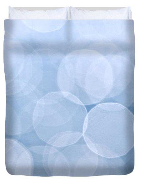 Blue Bokeh Background Duvet Cover by Elena Elisseeva