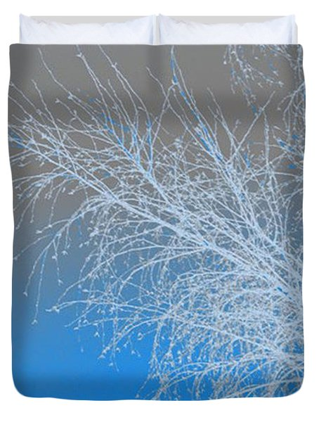 Blue Branches Duvet Cover by Carol Lynch