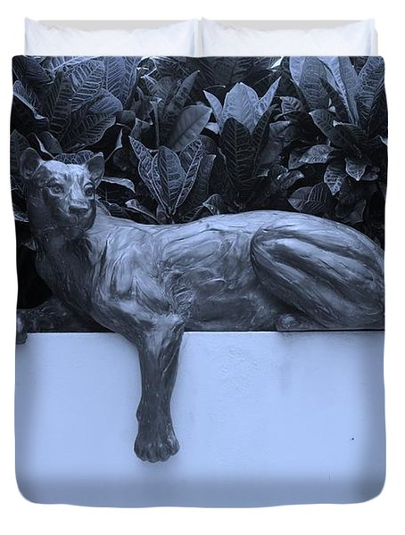 BLUE CAT Duvet Cover by ROB HANS