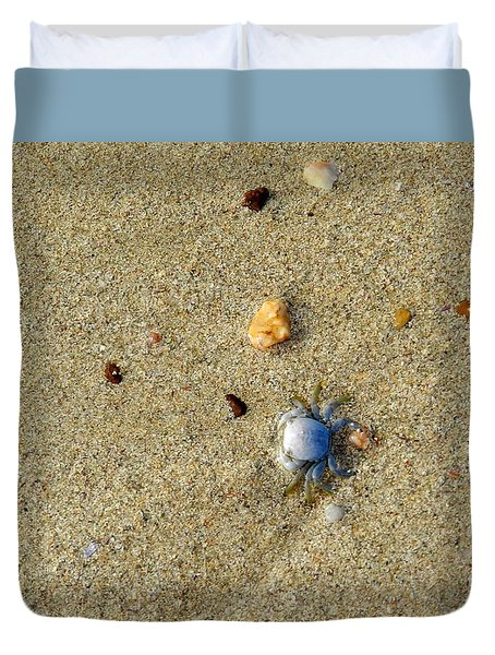 Blue Crab Duvet Cover by Leana De Villiers