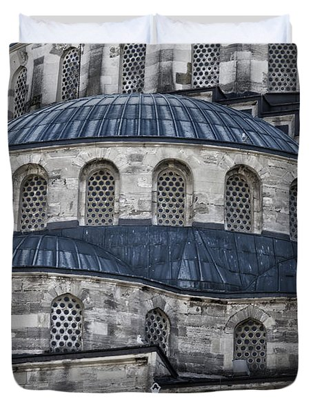 Blue Dawn Blue Mosque Duvet Cover by Joan Carroll