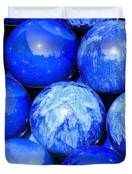 Blue Decorative Gems Duvet Cover by Toppart Sweden