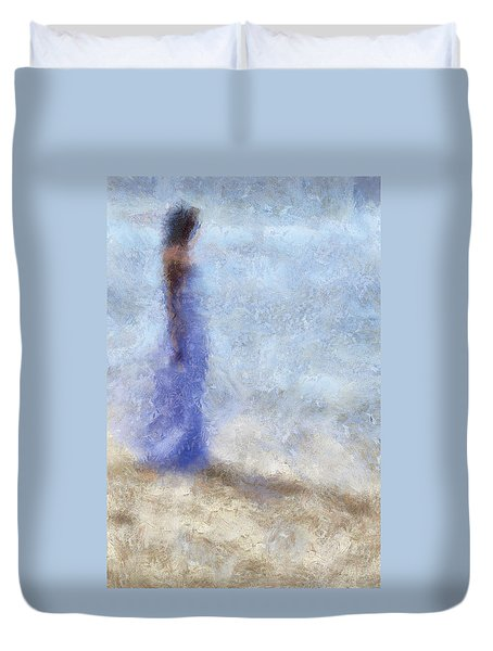 Blue Dream. Impressionism Duvet Cover by Jenny Rainbow