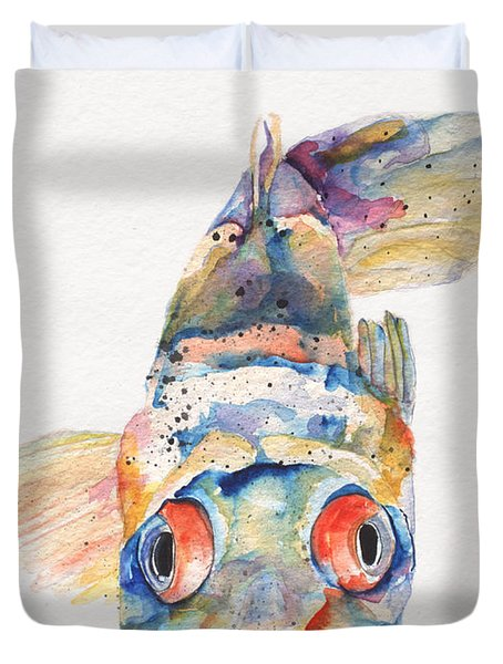 Blue Fish   Duvet Cover by Pat Saunders-White